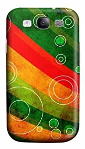 Samsung Galaxy S3 I9300 Case,Samsung Galaxy S3 I9300 Cases - Circle Outlines On Grungy Waves PC Custom Samsung...