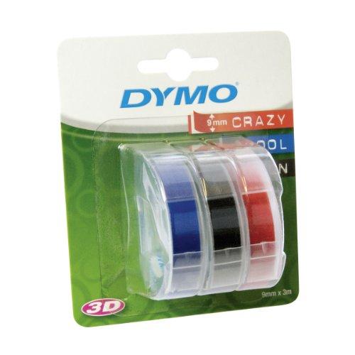 Dymo S0847750 Prägeband (0,9 cm) rot/schwarz/blau
