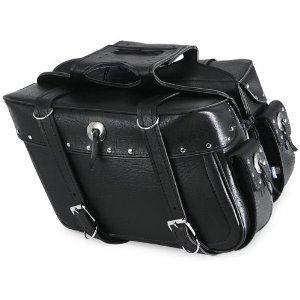 All American Rider Slant Flap-Over Style Saddlebag - Medium - Studded 3036RVT (All American Rider)
