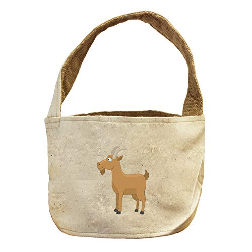 Style in Print Goat Smiling Animals Canvas and Burlap Storage Basket by Style in Print