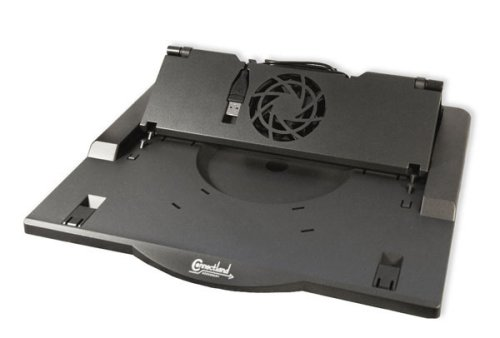 Connectland CL-NBC-STDFAN Plastic Ergonomic Laptop Cooling Stand for 12-Inch, 17-Inch Notebook PC