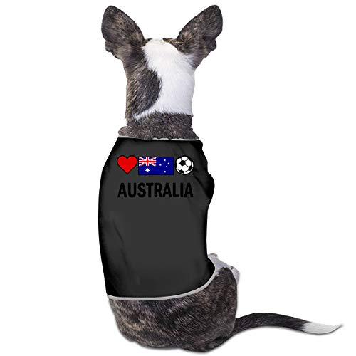 COLLJL8 Australia Football Soccer Pets Clothing Costumes Puppy Dog Clothes Vest Tee T-Shirt ()