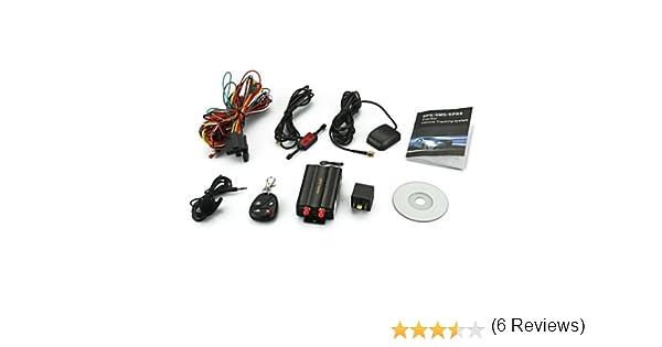 Localizador TK103B GSM / GPS SMS SOS alarma de coche con control remoto: Amazon.es: Electrónica