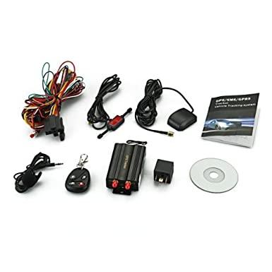 TOOGOO(R) Localizador TK103B GSM / GPS SMS SOS alarma de coche con control remoto: Amazon.es: Electrónica