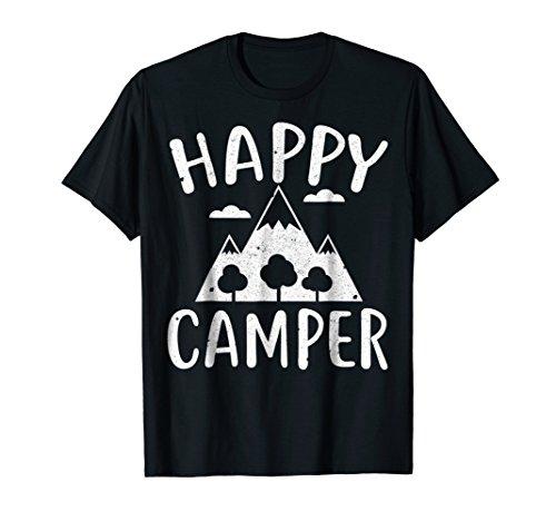 Happy Camper T-Shirt T-Shirt Funny Camping Gift Idea (Happy Shirts T-shirt Sweatshirt)