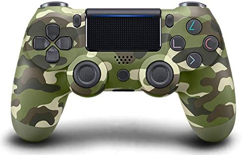 PS4 Controller[Upgraded Version], Wireless Bluetooth Gamepad with USB Cable for Sony Playstation 4, Compatible with PS4/Pro/Slim/Windows PC(7/8/8.1/10) (Green Cammo)