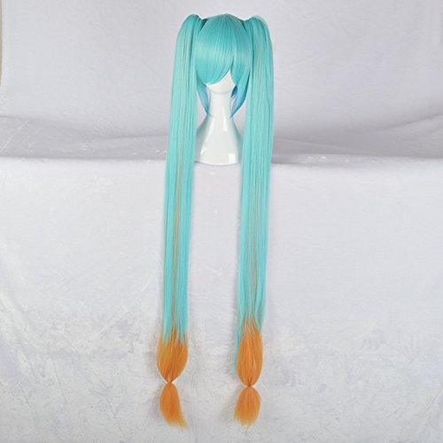 Halloween early sound animation wig tri-color gradient with short hair (Halloween Sounds Short)