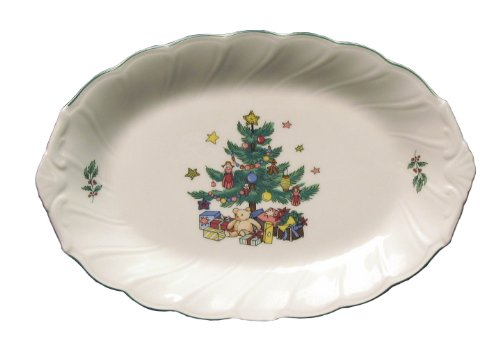 Nikko Happy Holidays Relish Tray, 9-Inch