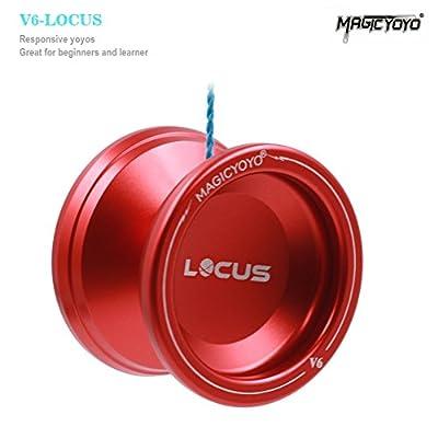 Magic YoYo Pro Responsive Yo-yo Beginner V6 LOCUS Space Matt Metal Yo Yo Set Red: Toys & Games
