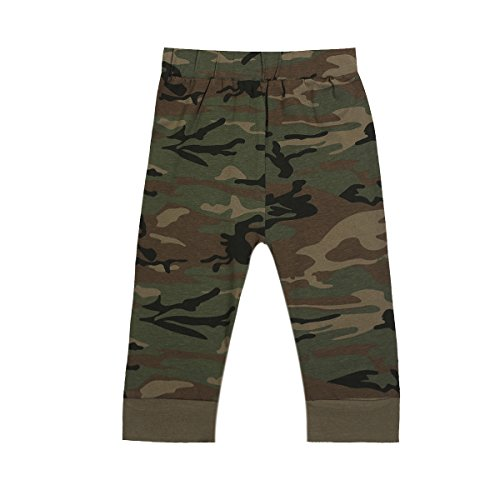 Baby Boys Girls Outfit Long Set 2PCS Camouflage Letter Print Shirt with Pants (Wild One Short Camouflage, 12-18 Months) by Truly One (Image #3)