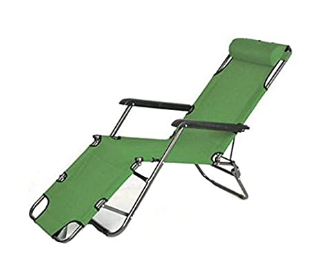 Cheesea Outdoor Folding Lounge Chair Leisure Luxury Steel Pipe Pool /Beach /Home Recliner With Fabric -Adjustable Pillow (178cm (Packers Rocking Chair)