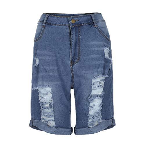 - NOMENI New Women's High Waist Loose Short Jeans Denim Shorts Female Pocket Wash Denim Summer Shorts Hot Pants