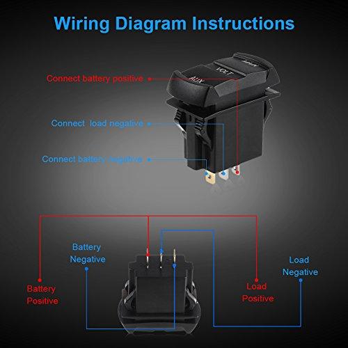 waterwich 12v 24v volt meter led digital display dc voltmeter voltage meter  with terminals for car