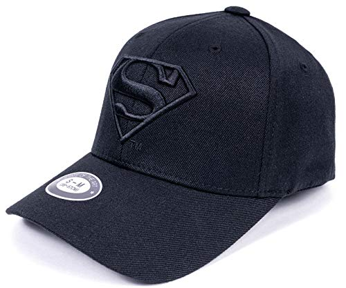 - POPKORS DC Comics Superman Fitted Hat Men Women Flexfit Ball Cap Baseball Cap (S~M, 21.65