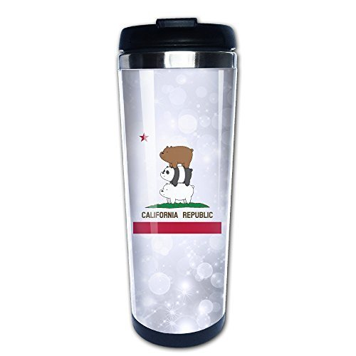 LQYG We Bare Bears-California Flag Coffe Mug Water Milk Thermal Mugs (Alien Princess Costume)
