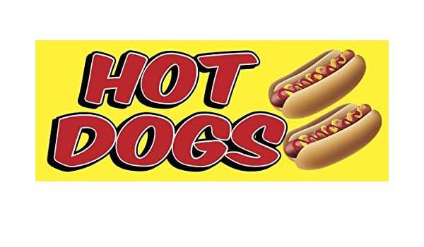 Cartel de Hot Dogs de 2 pies x 5 pies: Amazon.es: Oficina y ...