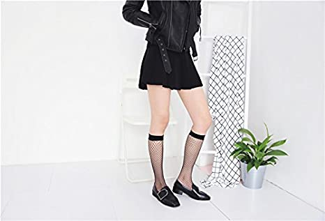 5c77d27ca1eb8 Anlaey Fishnet Tights Black White fishnets Stockings Pantyhose for Women  Girls at Amazon Women's Clothing store: