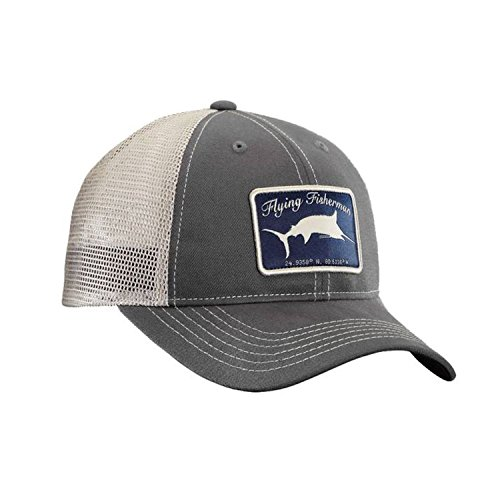 Flying Fisherman Marlin Trucker Hat, - Flying Hats Fisherman