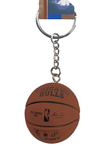 aminco NBA Officially Licensed Chicago Bulls Mini Spalding Basketball Keychain