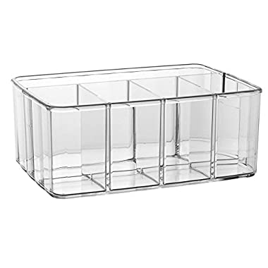 Premium Quality Clear Plastic Vanity Organizer | 5 Compartments
