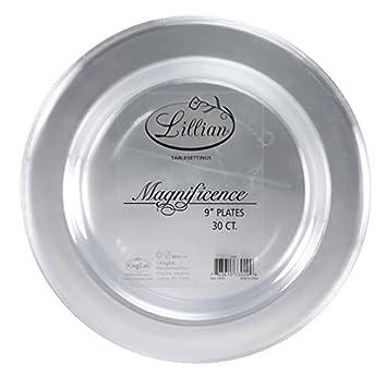 premium quality heavyweight plastic plates china like wedding and party dinnerware plastic plates 9 inch