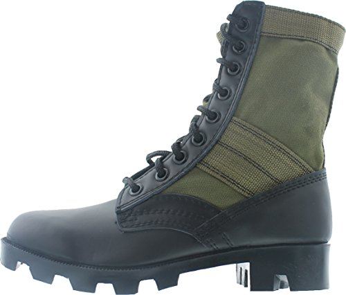 Olive Drab Panama Sole Military Leather Jungle Boots, Size 11 Wide ()
