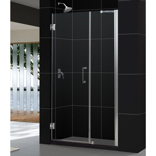 50' Frameless Shower Door (Unidoor Frameless Hinged Shower Door with 24