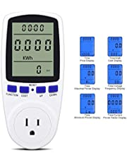 Plug Power Meter Energy Digital LCD Electricity Usage Monitor Watt Voltage Amps Meter Electricity Usage Monitor