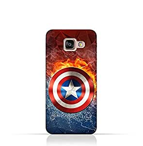 Samsung Galaxy A7 2016 TPU Silicone Protective Case with Shield of Captain America Design
