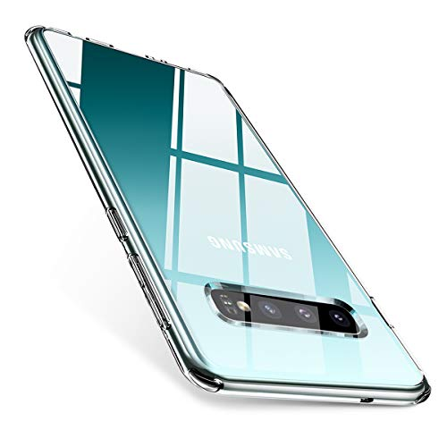 AINOPE Galaxy S10 Case, Ultra Thin Case Compatible with Samsung S10, Crystal Clear S10 Case with Soft TPU Rim, Screen and Camera Protection Cover for Galaxy S10 6.1 inch 2019