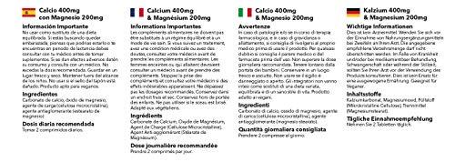 Calcio 400 mg y Magnesio 200 mg - 2 frascos de 180 comprimidos - 6 meses de suministro - Huesos, uñas y dientes sanos - SimplySupplements: Amazon.es: Salud ...