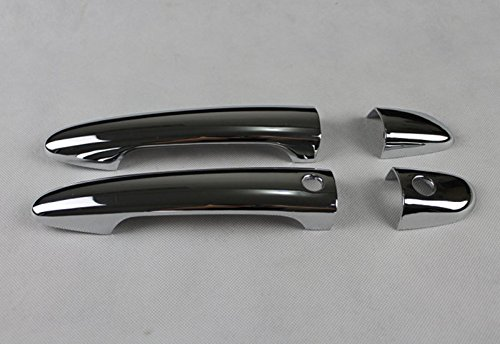Chrome ABS Side Door Handle Cover Trim With Smart Key Holes 8pcs