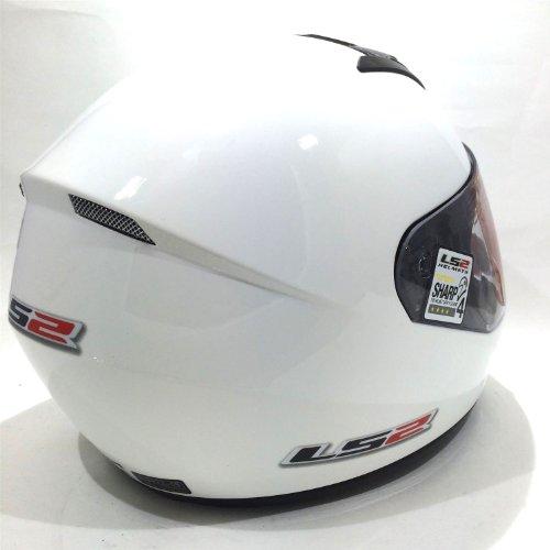 Amazon.es: Casco de la motocicleta LS2 FF351 Mono casco integral (XL, Blanco)