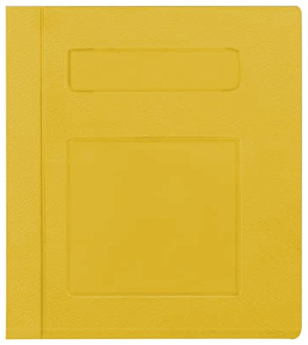 PDC Healthcare CBS16Y Poly Binder, Side Open, 3-Ring, Blank Front, 3'', Yellow