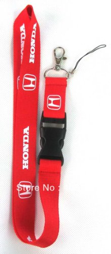 honda-red-lanyard-keychain-badge-holder