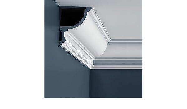 Cornisa Moldura Perfil de estuco flexible Orac Decor C901F LUXXUS Elemento decorativo para pared y techo 2 m: Amazon.es: Bricolaje y herramientas