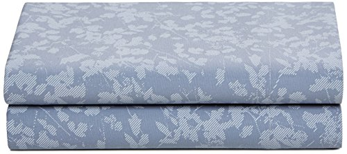 Calvin Klein Home Watercolor Peonies Twill Fern Flat Sheet, King ()