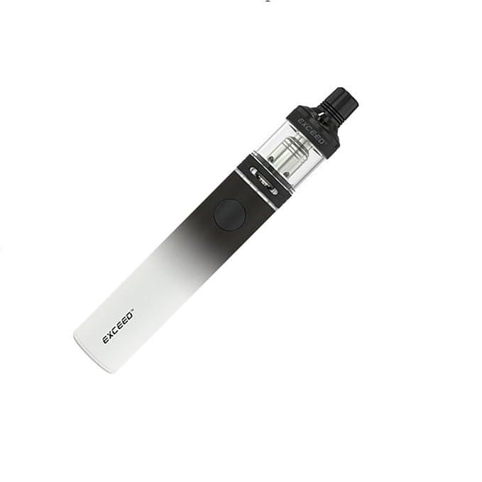 Joyetech Exceed D19 Cigarrillos electrónicos EGO AIO Kit de inicio 1500 mAh (Blanco Negro) con Extra Vape Band