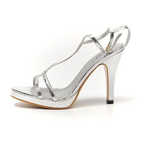 SPOILT BY SHU - Sandalias de vestir para mujer Plateado plata