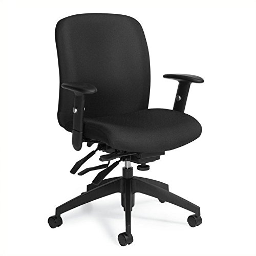 Global Truform Medium Back Multi Tilter Office Chair in Ebony