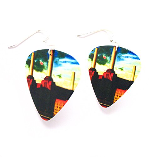 Pink Floyd Earrings Animals Guitar Pick Classic Rock and Roll Music - Pink Floyd Earrings