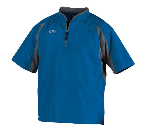 Mens Short Sleeve Practice Tee - Rawlings Men's Cage Jacket (Royal, Large)