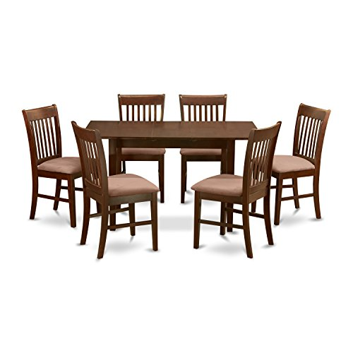 East West Furniture NOFK7-MAH-C 7-Piece Kitchen Nook Dining Table Set (Dining Room Sets For Cheap)