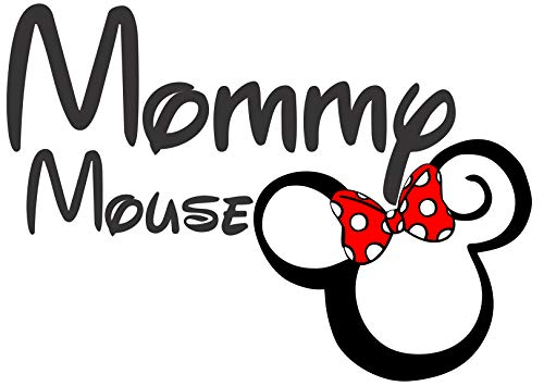 (Mommy Mouse Iron On Transfer for T-Shirts & Other Light Color Fabrics #6)