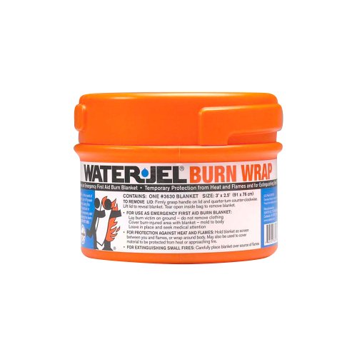 Water Jel Fire Blanket - Waterjel 2871 Water-Jel Burn Wrap Blanket in Canister, 3' Length x 2-1/2' Width, Canister Pack