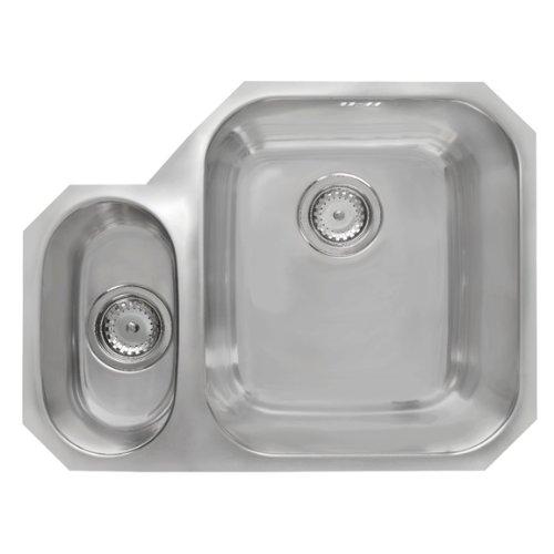 Astracast Kitchen Sink - Astracast 1.5 Bowl Left Handed Undermount Kitchen Sink in St/Steel by Astracast