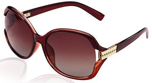Sunglasses For Women Polarized Oversized Over Glasses Mirror Retro Round UV Protection byVATTER8870Brown (Streamline Polarized Sunglasses)