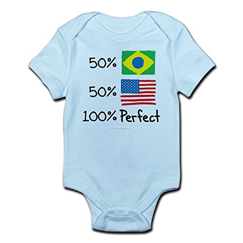 CafePress Brazil/USA Perfect Flag design Infant Bodysuit - Cute Infant Bodysuit Baby ()