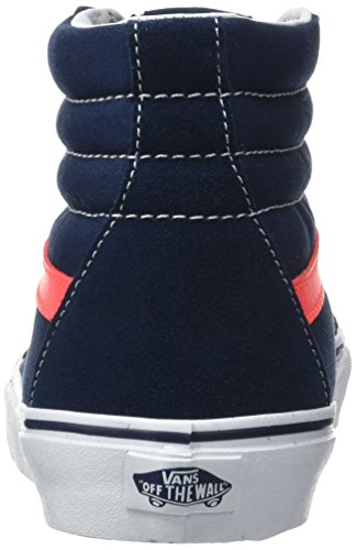 Vans Ua Sk8-Hi Reissue, Zapatillas Altas para Hombre Azul (Neon Leather Dress Blues/neon Red)