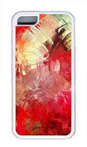 iPhone 5C Case Cover - Paint Brushes TPU Back Case for Apple iPhone 5C - White